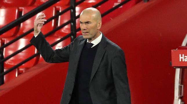 Zidane, en el último partido ante el Granada.