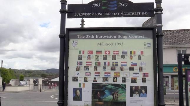 En la imagen, un cartel del Festival de Eurovision que se celebró en Millstreet en 1993.