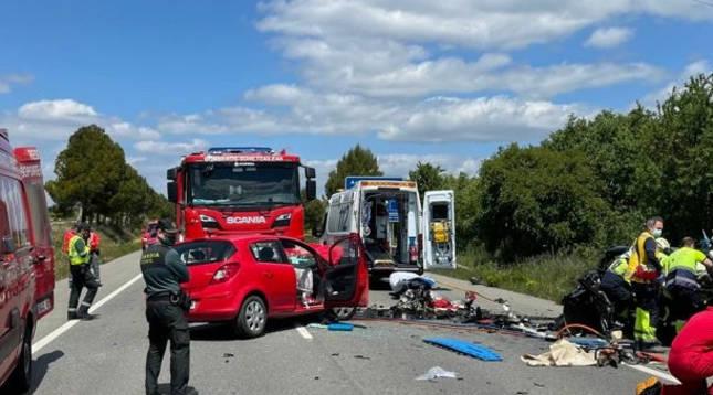 Accidente mortal en Olite