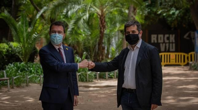 Aragonès promete lealtad mutua con Junts para avanzar hacia la independencia