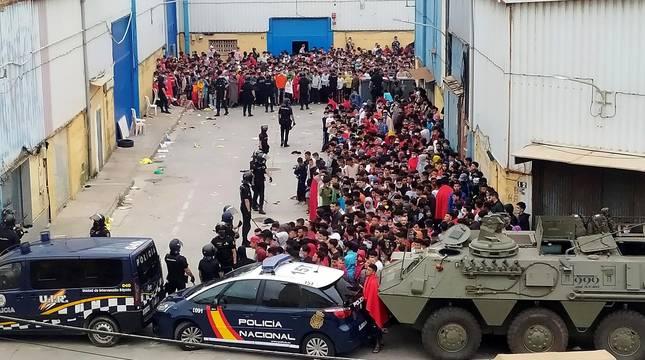 Crisis migratoria en Ceuta