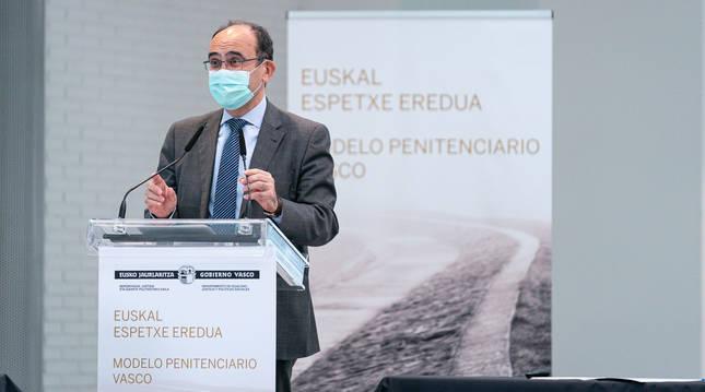 Jaime Tapia, asesor para Instituciones Penitenciarias del Gobierno Vasco.