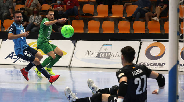 Imagen del partido Osasuna Magna-Movistar Inter disputado este jueves en Anaitasuna.