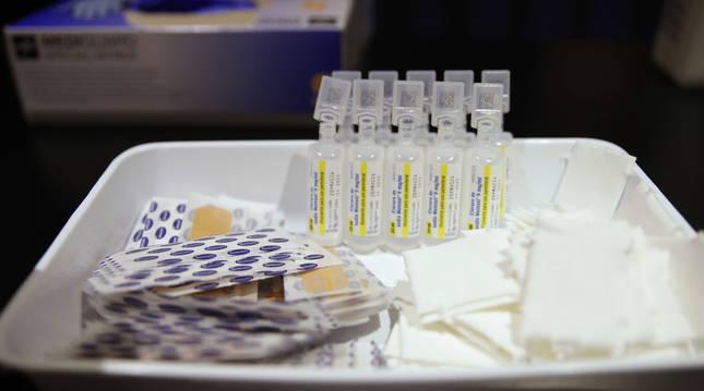 Varios viales con la vacuna de Pfizer contra el Covid-19.