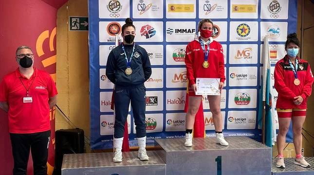 Aintzane Gorria se colgó la medalla de oro.