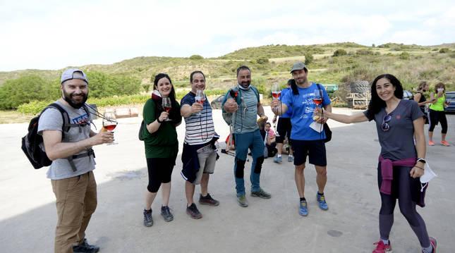 De izda. a dcha.; Xabier Belasco, Andrea Goñi, Iñali Pérez, Manu Carrasco, Javier Madoz y Sheila Ezkieta.