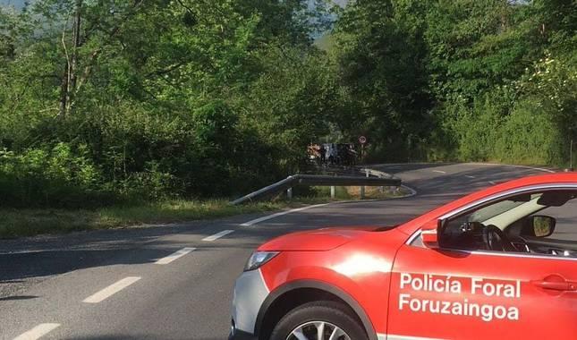 Un ciclista muere atropellado en Otsondo por un conductor que se ha dado a la fuga