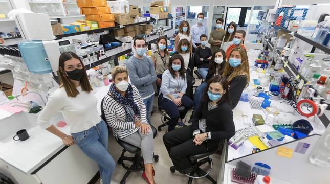 El equipo de la investigadora Marta Alonso.