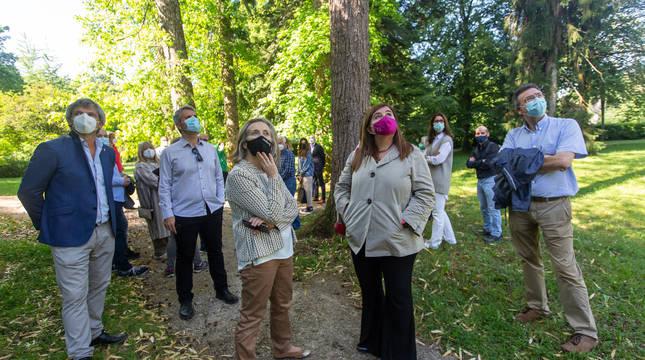 Imagen de la visita de este miércoles al parque.