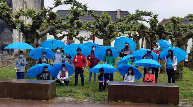 Niños y niñas del Colegio Burguete, participantes en la jornada de NILSA.