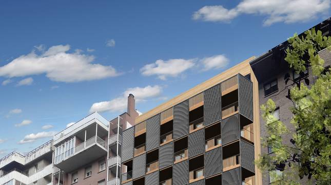 El edificio proyectado por Nasuvinsa estará ubicado en la calle río Alzania 18 del barrio de Azpilagaña.