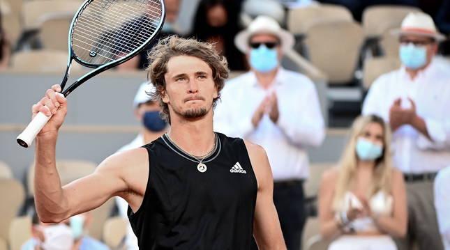 Imagen de Davidovich en el torneo Roland Garros