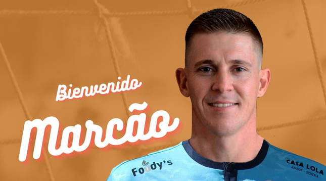 Bienvenida a Marcão en las redes sociales del Aspil-Jumpers Ribera Navarra.