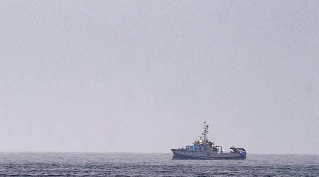 El buque oceanográfico equipado con un sonar y un robot submarino que se incorporó a la búsqueda.