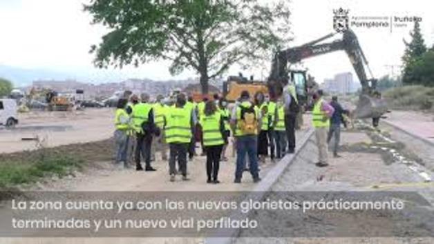 Vídeo: Visita a las obras de la primera fase del parque sur de la Txantrea