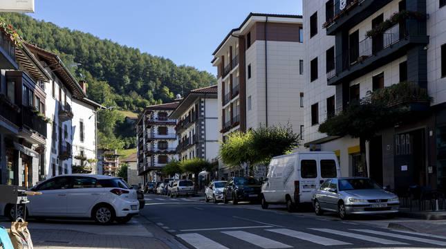 Imagen obtenida en la travesía que surca el entramado urbano de Leitza.