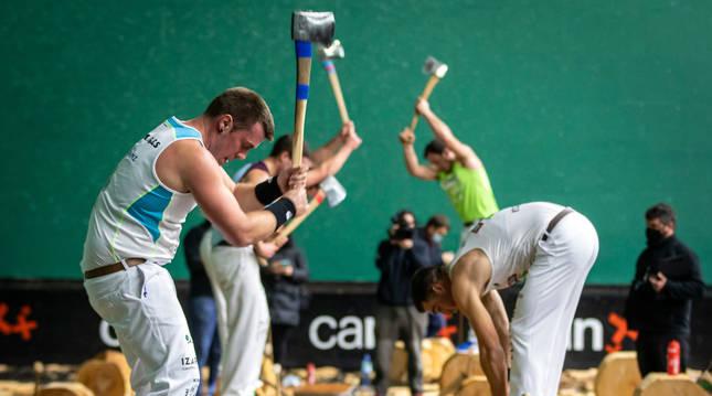 Fotografía de un momento del pasado Campeonato Navarro de primera disputado en Doneztebe