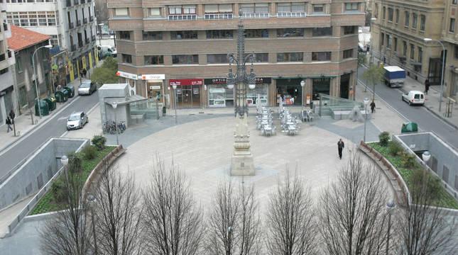 Plaza del Vínculo en Pamplona