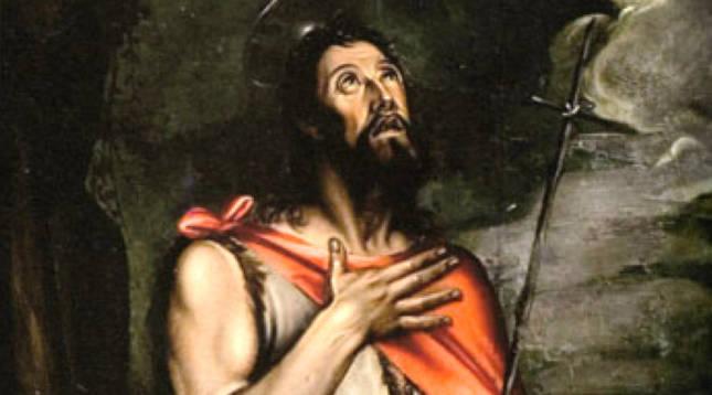 Tabla de San Juan Bautista en el retablo mayor del monasterio de Fitero, por Rolan Mois, 1590.