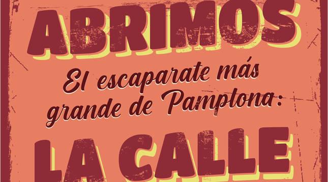 'El comercio de Pamplona sale a la calle', una iniciativa del Ayuntamiento para apoyar el comercio local.