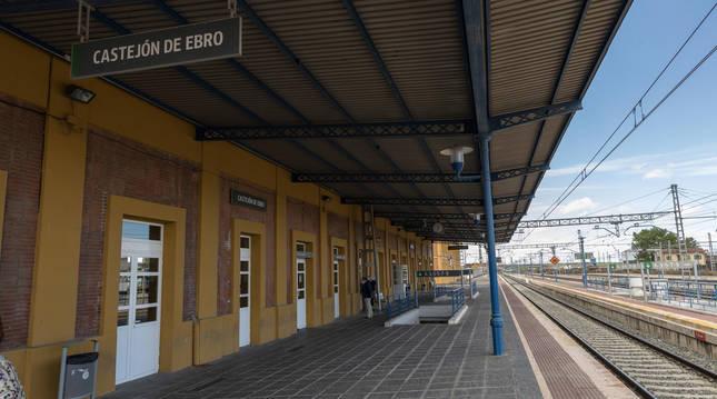 Estación de ferrocarril de Castejón (Navarra).