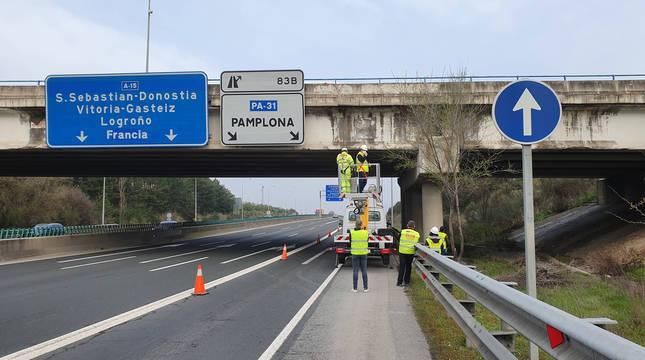Anuncian obras de emergencia en un puente sobre la AP-15 en Noáin