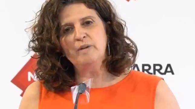 Marta Álvarez, durante la rueda de prensa.
