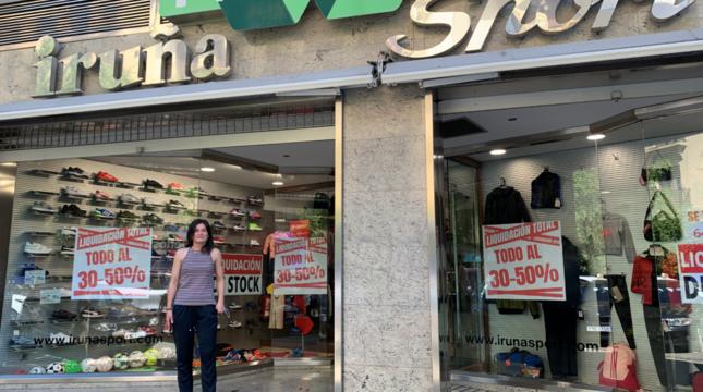Iruña Sport, veterana tienda de deportes de Pamplona, en liquidación por cierre