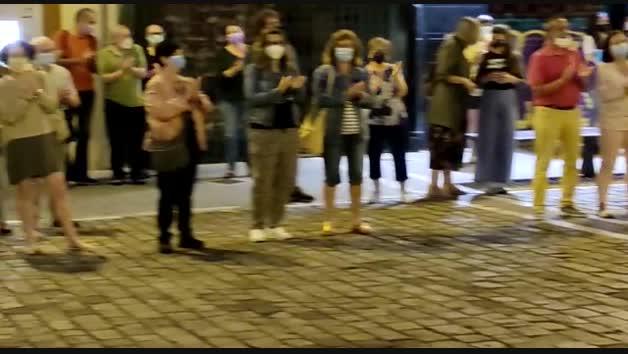 Vídeo de la concentración en Pamplona contra la violencia machista