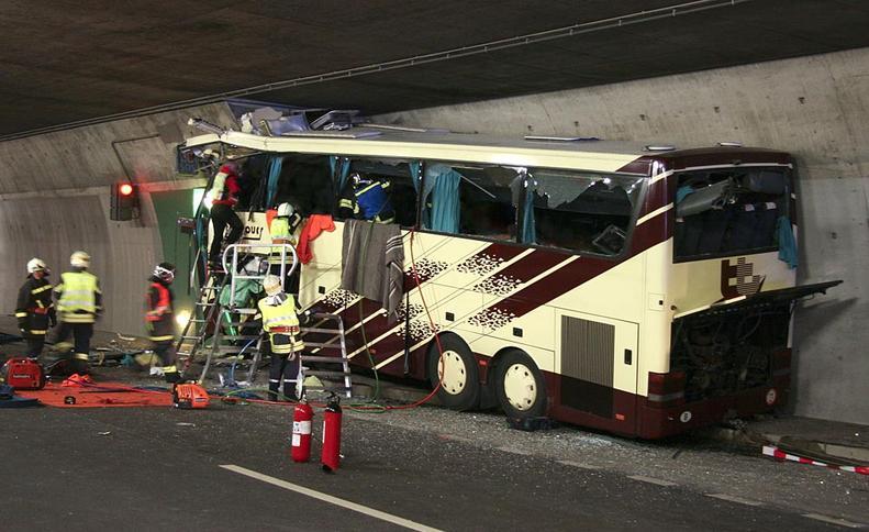 Accidente en Suiza  AGENCIAS