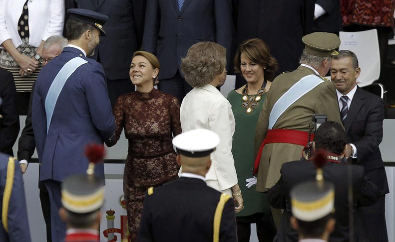 Desfile militar en Madrid con motivo de la Hispanidad  EFE