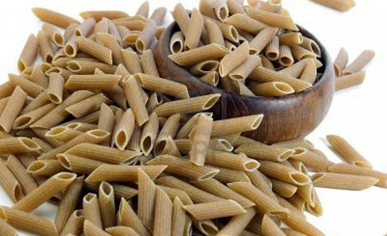 Pasta de trigo integral, rica en fibra.