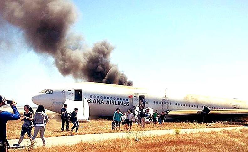 Accidente aéreo en San Francisco  AGENCIAS