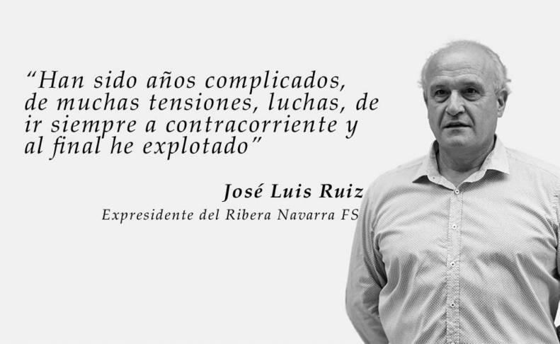 Carta de dimisión de José Luis Ruiz como presidente del Ribera Navarra FS