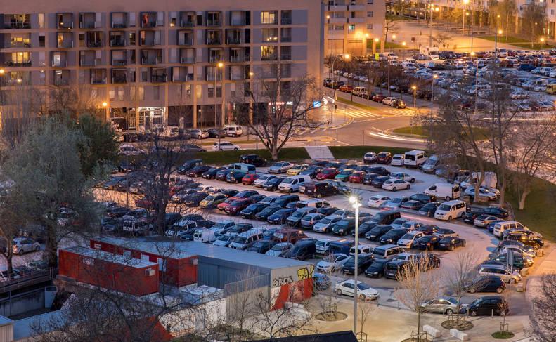 Corralillos, el parking gratuito de 'lo Viejo'