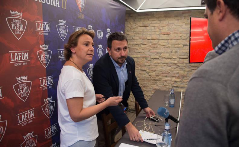 Eva Blanco y Juanra Lafón, la pasada semana en la inauguración de la sede.