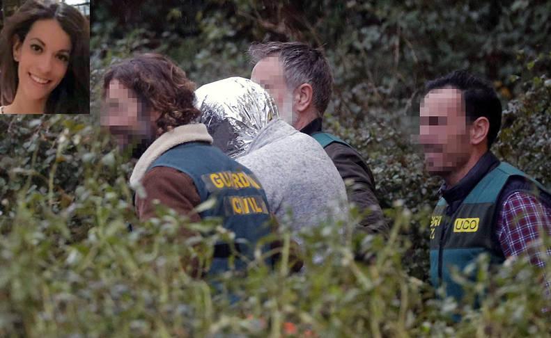 """José Enrique Abuín, conocido como """"El Chicle"""", asesino confeso de Diana Quer, es trasladado por efectivos de la UCO desde la nave de Rianxo (A Coruña)."""