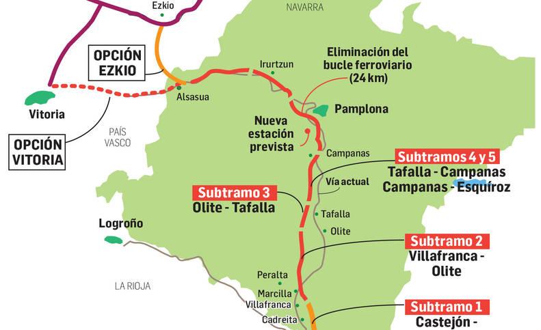 Mapa del Tren de Alta Velocidad.