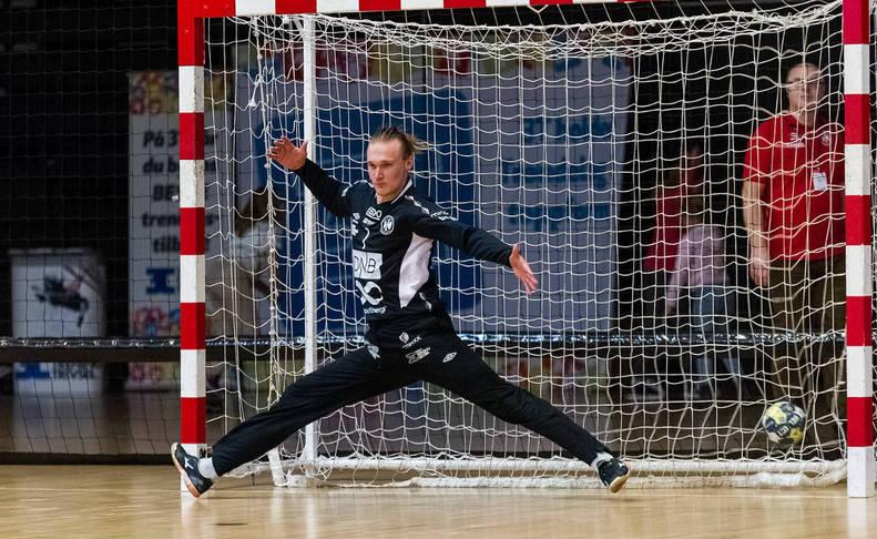 Patrick Bols, defendiendo la portería del Koldstad danés en octubre de 2017.