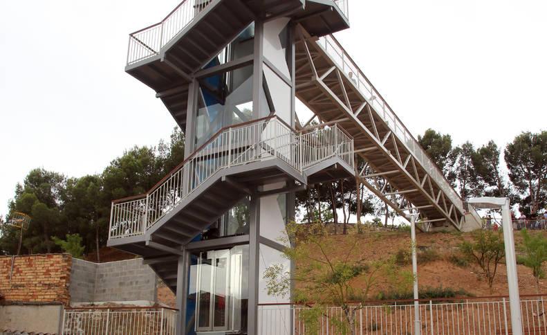 Imagen del nuevo ascensor de la Torre Monreal de Tudela.