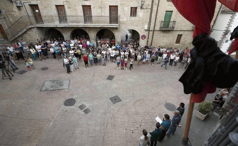Concentración celebrada este miércoles en la Plaza del Ayuntamiento de Cáseda
