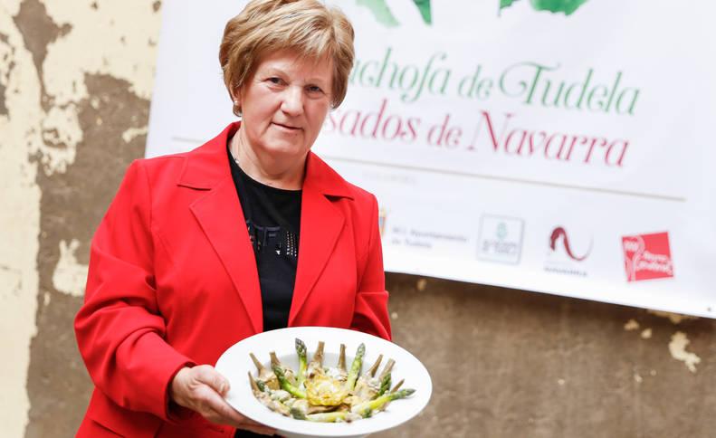 Isabel Usoz Iriarte ganó en 2015 con la misma receta de alcachofas el 'Concurso de guisos de alcachofa Quique Castel-Ruiz', en Tudela.