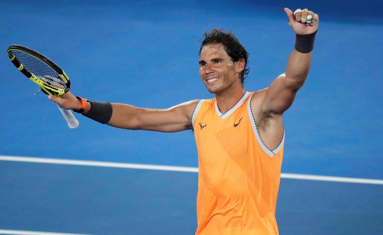 Nadal se deshace de Ebden y pasa a tercera ronda en Australia.