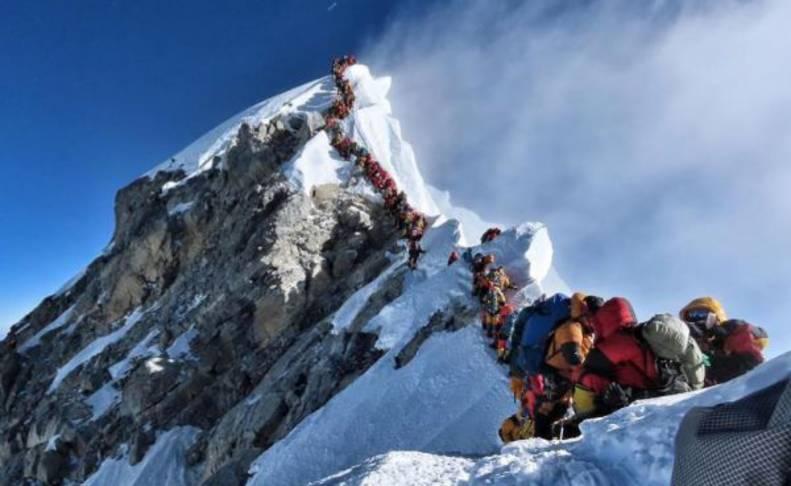 El mayor atasco registrado en el Everest