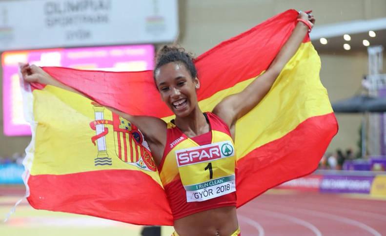 María Vicente, oro europeo sub 20 en heptatlón y récord de España absoluto