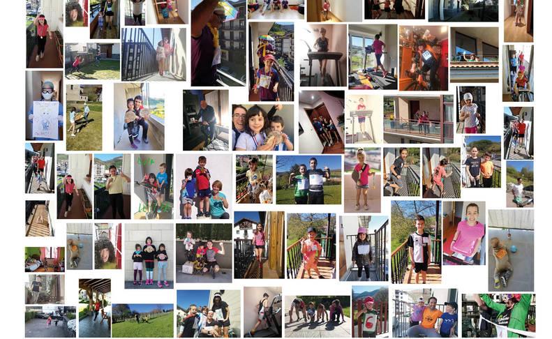 La iniciativa de correr el Cross Popular de Leitza cada uno en su casa reunió a más de 150 participantes, que enviaron fotos y vídeos.