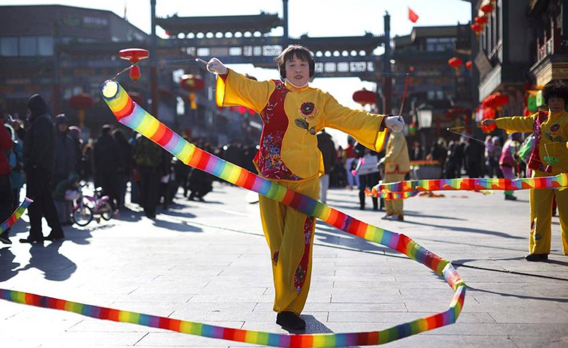 Celebraciones del Festival de la Primavera o Año Nuevo Chino (1/64) - Diferentes actos celebrados con motivo de la celebración del Año Nuevo Lunar en China, conocido también como Festival de la Primavera. - Sociedad -
