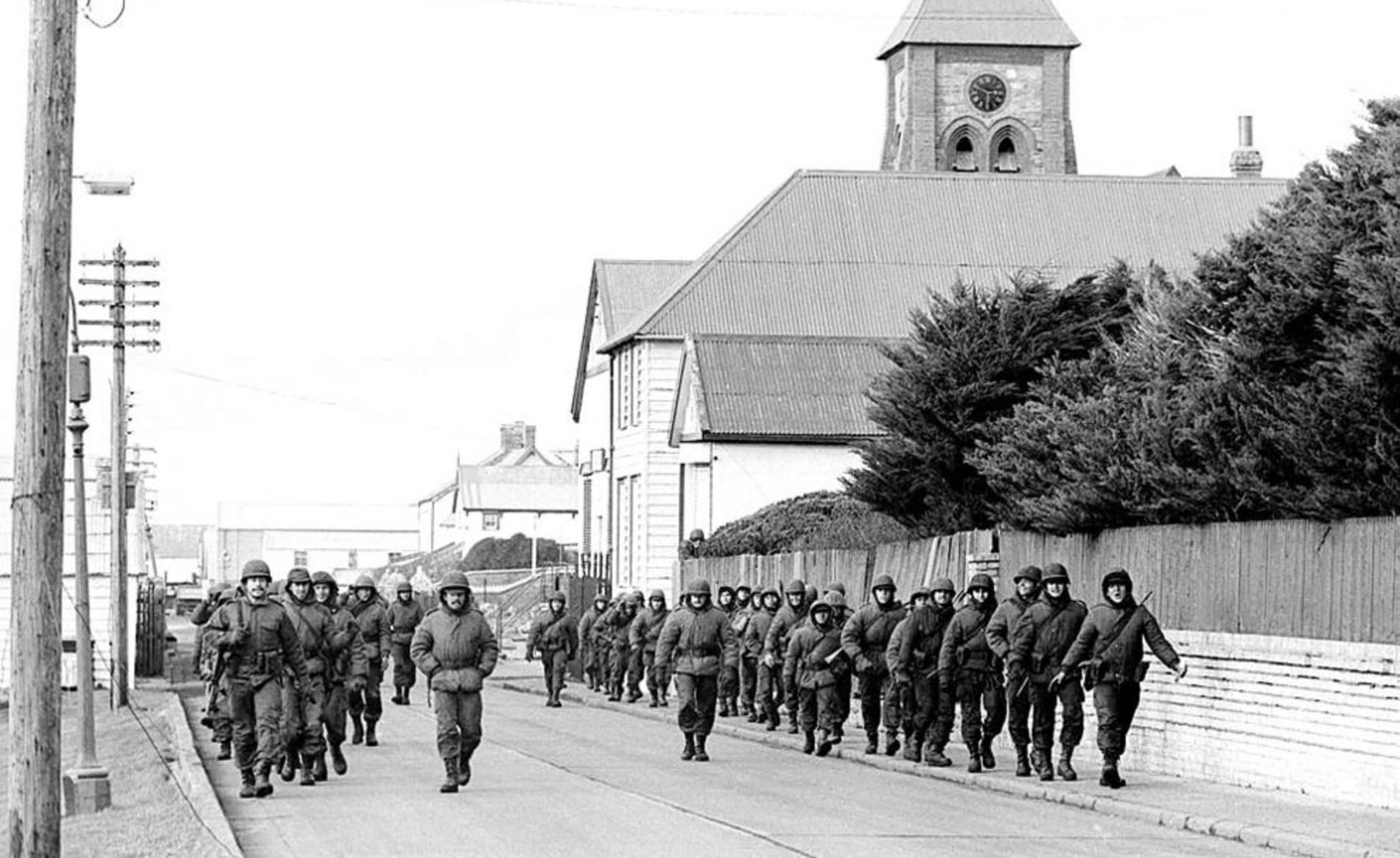 Imágenes de La guerra de las Malvinas, que tuvo lugar en abril de 1982