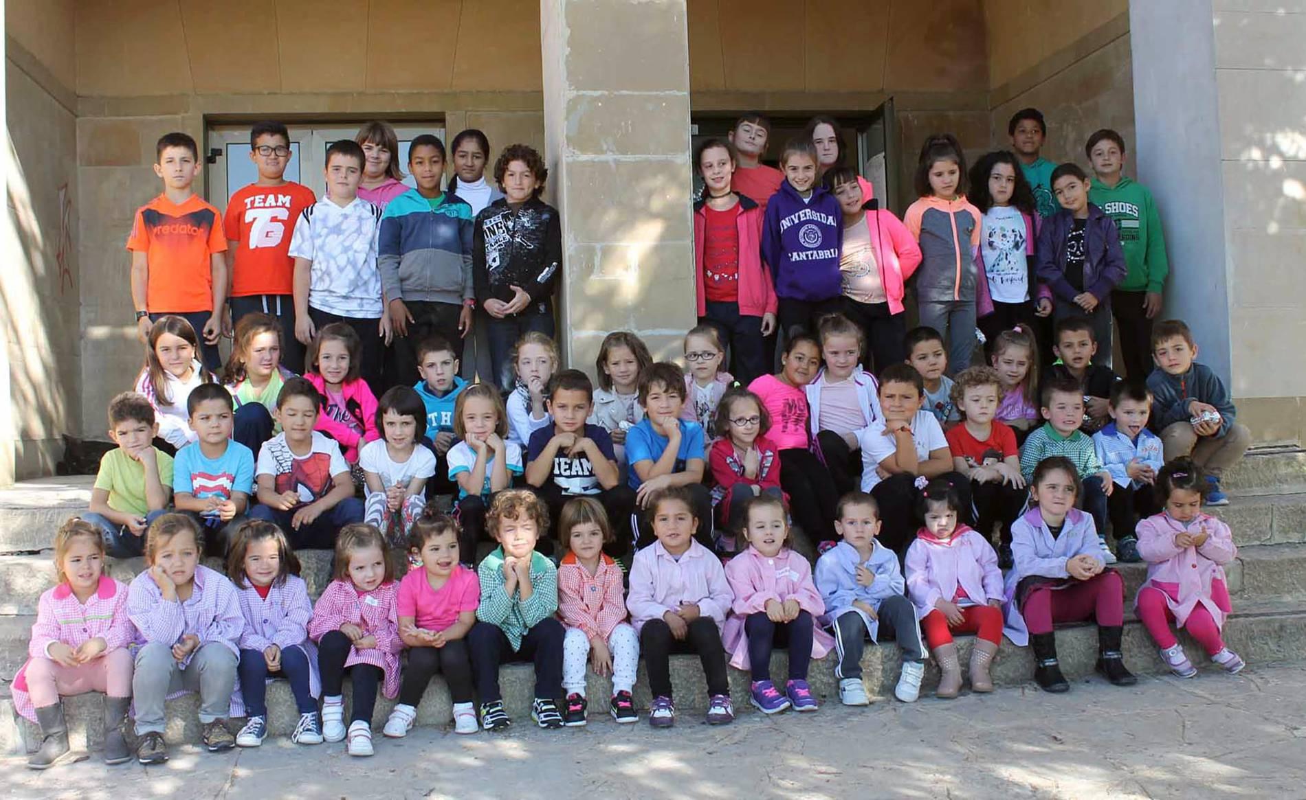 Colegio La Balsa (1/13) - Escolares del colegio La Balsa - Navarra -