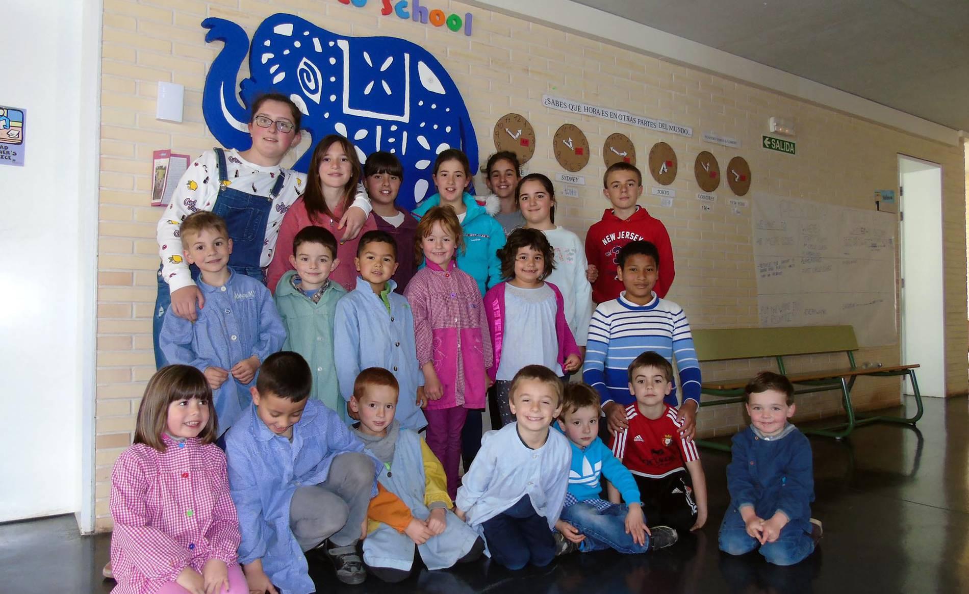 Colegio Público Añorbe (1/15) - Escolares del colegio de Añorbe. - Navarra -